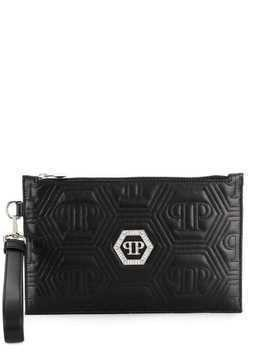 Philipp Plein Crystal clutch - Black