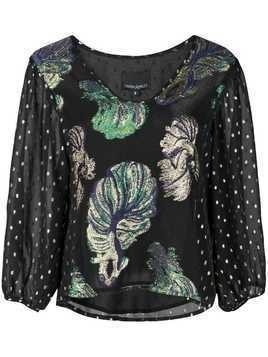 Cynthia Rowley Inverness metallic blouse - Black