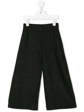 Caffe' D'orzo Sara glittered trousers - Black