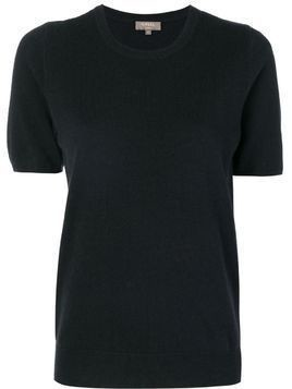 N.Peal round neck knitted T-shirt - Grey