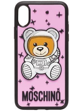 Moschino pink Bear logo iPhone X case - Pink & Purple
