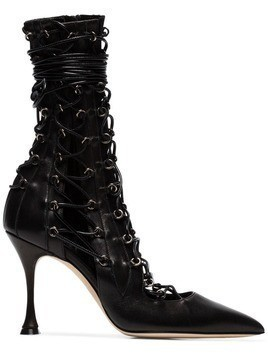 Liudmila lace-up heeled boots - Black
