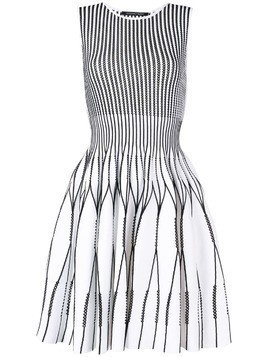 Antonino Valenti perforated mini dress - White