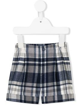Il Gufo checked pleated shorts - Grey