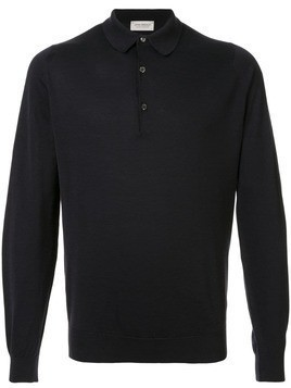John Smedley long-sleeve polo shirt - Black