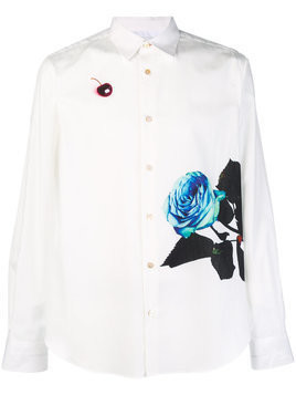 Ps By Paul Smith print front shirt - White