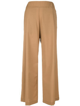 Semicouture high waisted palazzo trousers - Neutrals