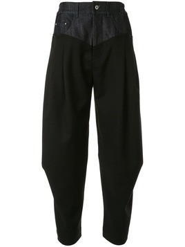 Fengchen Wang pleated panel trousers - Black