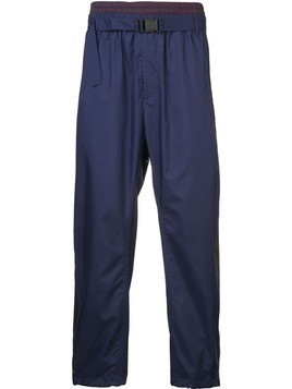 3.1 Phillip Lim Double-Waistband Track Pant - Blue