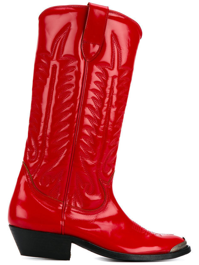 Golden Goose Deluxe Brand stitched cowboy boots - Red