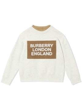 Burberry Kids Logo Detail Jersey Sweatshirt - White