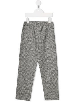 Douuod Kids jacquard-knit trousers - Grey