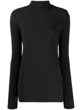 Dorothee Schumacher thumb hole roll neck top - Black