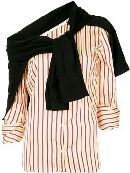 Hellessy Leandra off shoulder striped shirt - Multicolour