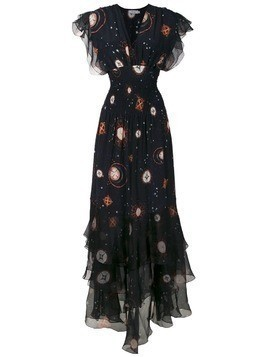 Isolda silk Pri long dress - Black