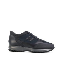 Hogan canvas-panelled sneakers - Blue