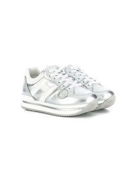 Hogan Kids lace-up sneakers - Silver