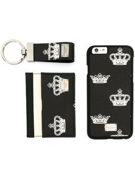 Dolce & Gabbana bee & crown iPhone 6 case, cardholder and keyring set - Black