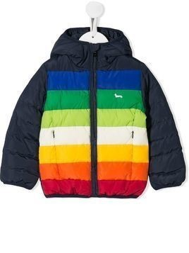 Harmont & Blaine Junior colour-block padded jacket - Blue