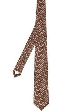 Burberry TB monogram print tie - Brown