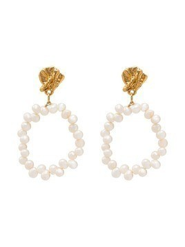 Alighieri Apollo's Story pearl earrings - White