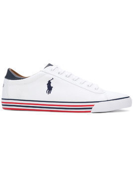 Polo Ralph Lauren tri-stripe sole sneakers - White
