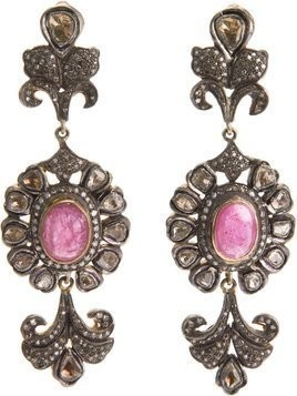 Petralux diamond baroque earrings - Metallic