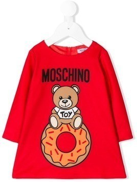 Moschino Kids Teddy donut print dress - Red