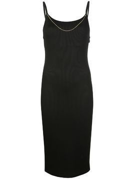 T By Alexander Wang chain-neck ribbed midi dress - Black