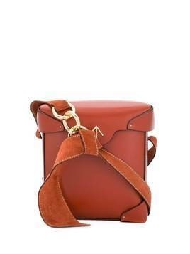 Manu Atelier Pristine Redbole mini shoulder bag - Brown
