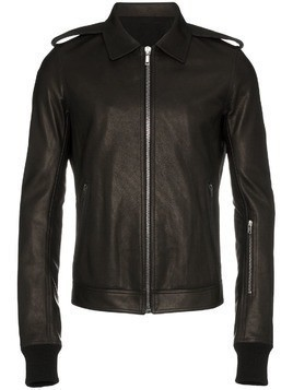 Rick Owens rotterdam leather jacket - Black
