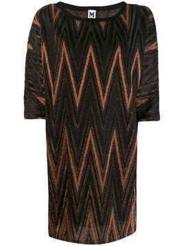 M Missoni zigzag metallic shift dress - Black