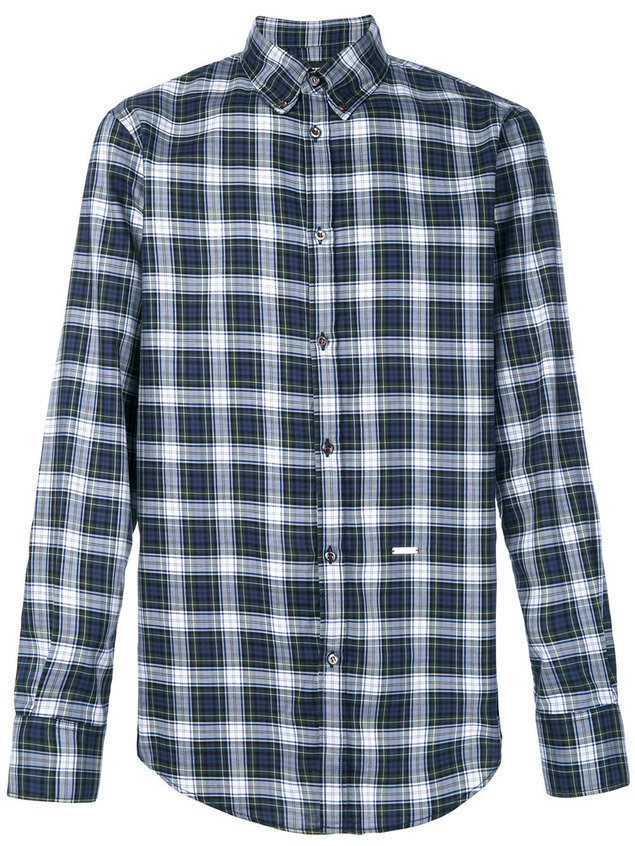 Dsquared2 checked shirt - Blue