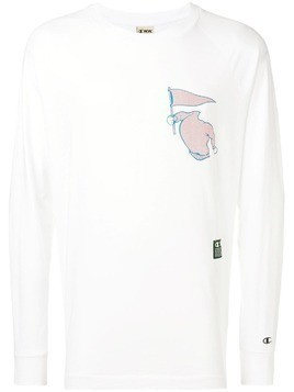 Champion X Wood Wood printed long sleeve T-shirt - White