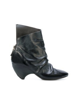 Marsèll ruched asymmetric ankle boots - Black