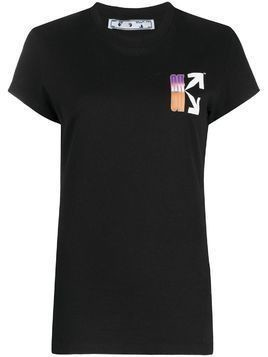 Off-White gradient style logo T-shirt - Black