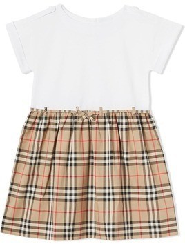 Burberry Kids Vintage Check Dress - White