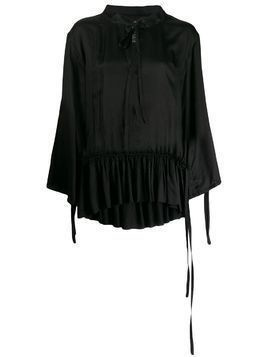 Ann Demeulemeester long-sleeved tunic top - Black