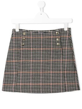 Chloé Kids houndstooth pattern skirt - Grey