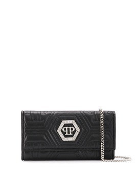 Philipp Plein crystal clutch bag - Black