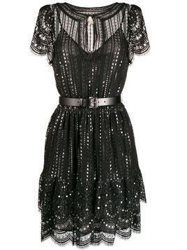 Michael Michael Kors embroidered lace dress - Black