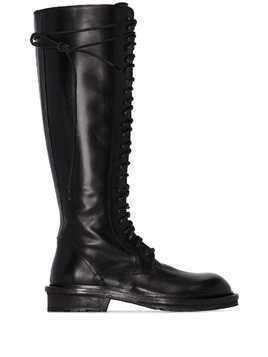 Ann Demeulemeester lace-up knee-high boots - Black