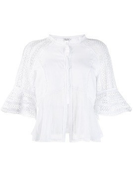 Charo Ruiz cut out embroidered blouse - White