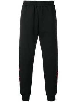 KTZ signature printed track pants - Black