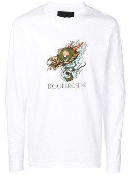 Blood Brother Ryo longsleeved T-shirt - White