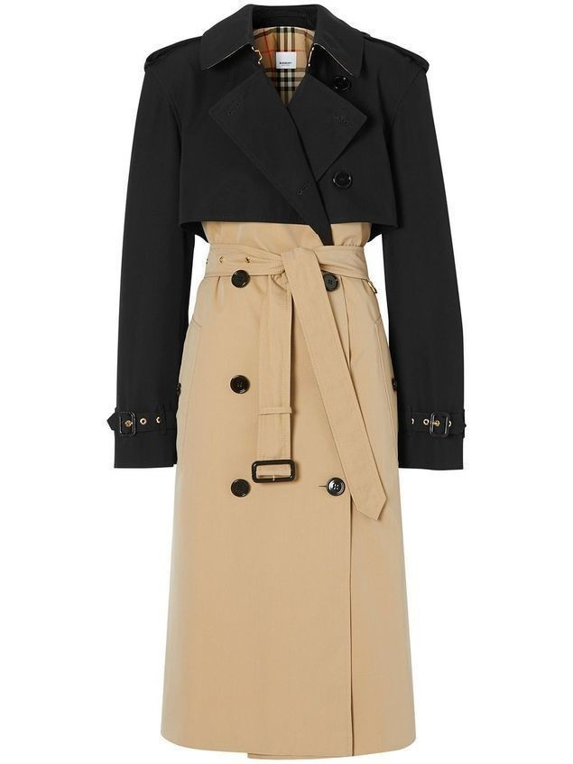 Burberry two-tone reconstructed trench coat - Black