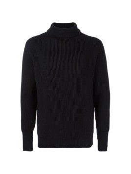 ANDERSEN-ANDERSEN ribbed knit turtleneck jumper - Blue