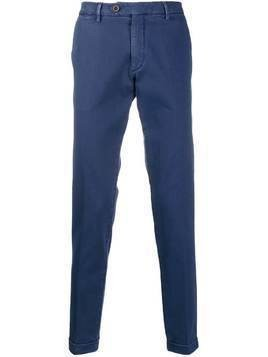 Al Duca D'Aosta 1902 turned hem trousers - Blue