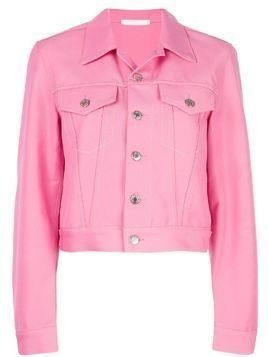 Helmut Lang cropped denim jacket - Pink
