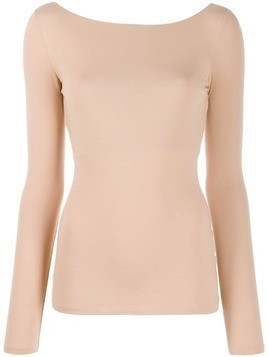 Acne Studios open back sweatshirt - Neutrals